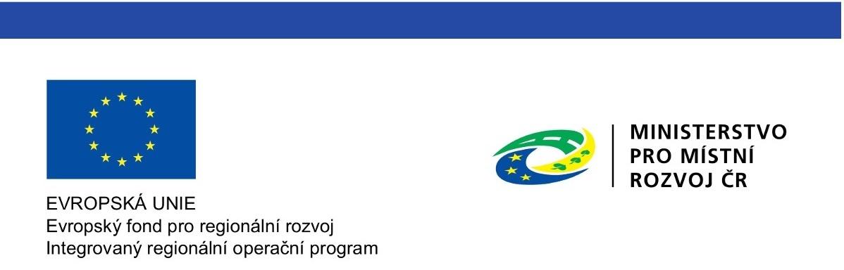 Logo evropská unie, evropský fond pro regionální rozvoj,integrovaný regionální operační program. Logo ministerstva pro místní rozvoj ČR.