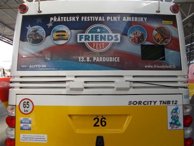 Zadní okno trolejbus